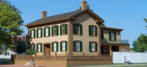 this is lincolns home and is a image that our business directory uses on the springfield il home page